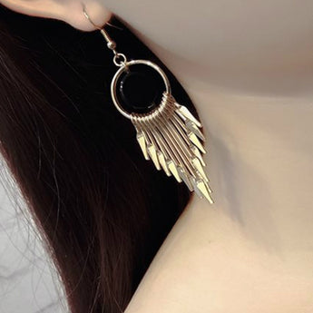 Long Drop  Tassel Earrings By My Aashis