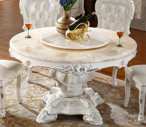 Precious Round Traditional Designed Dining Table Set - My Aashis