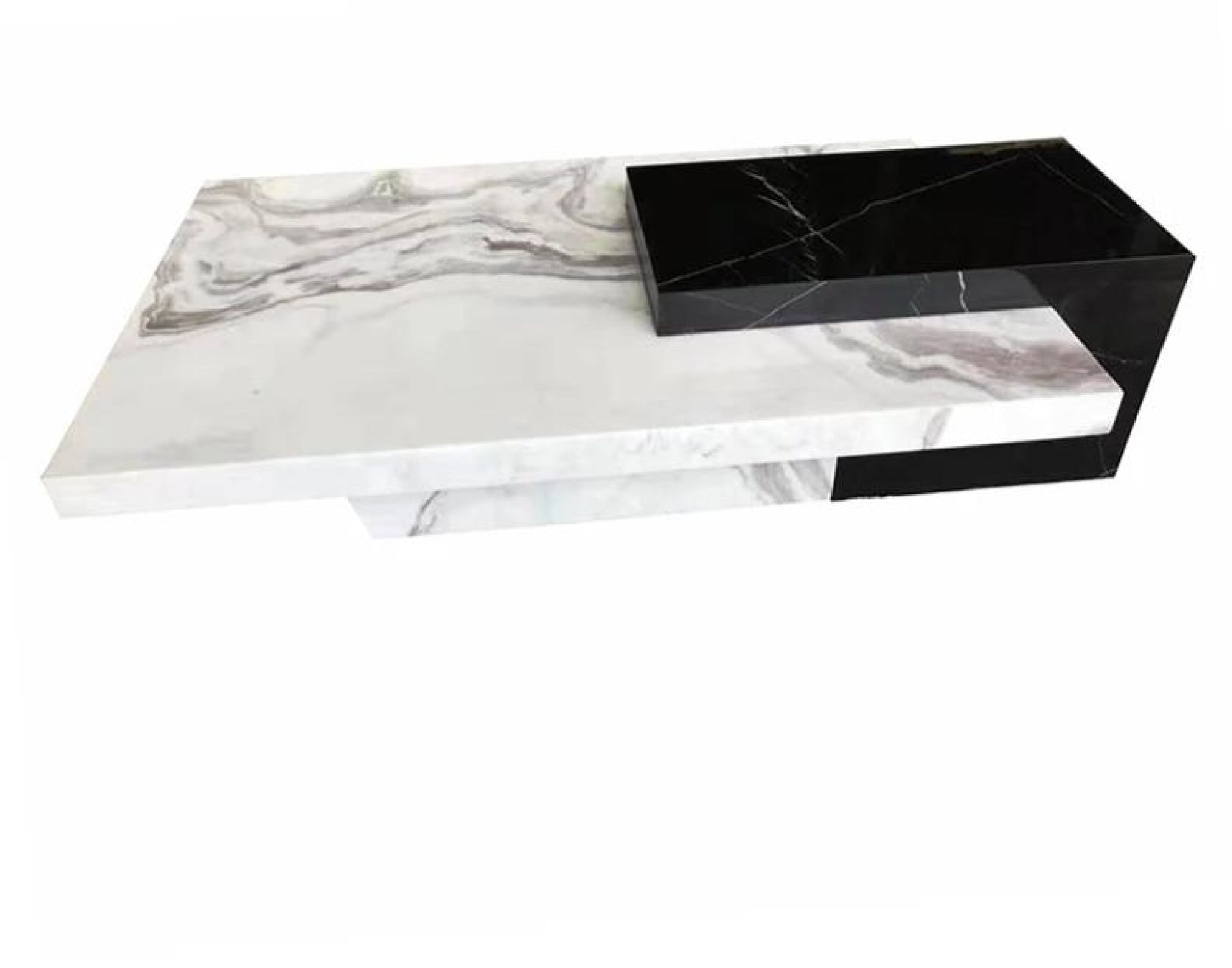 - Black & White Marble Trendy Coffee Table Furniture My Aashis