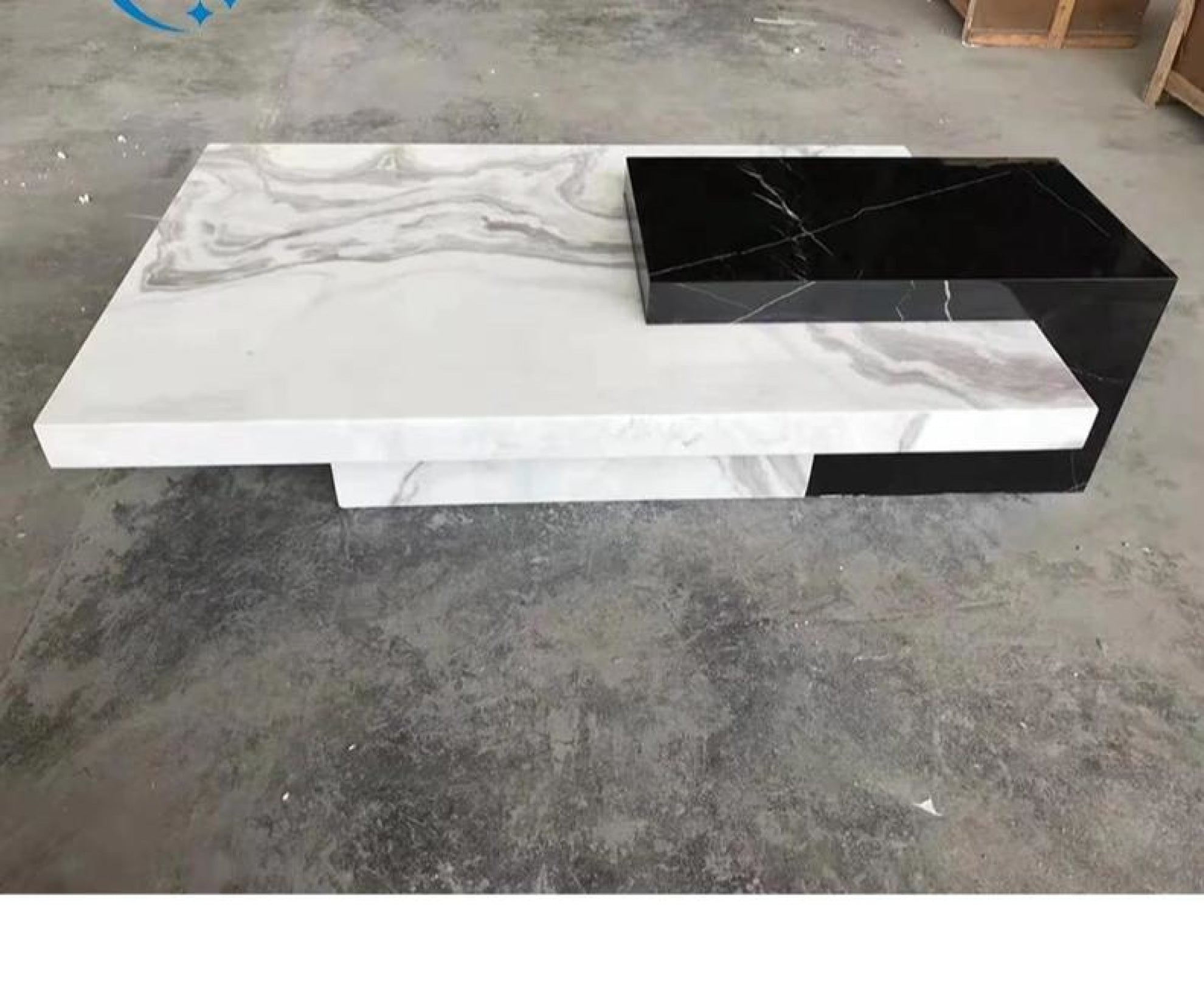Black White Marble Trendy Coffee Table Furniture My Aashis