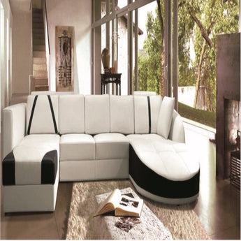 Luxury Cosenza - U-Shaped Ultra Contemporary Sectional Sofa with Double Chaise - D