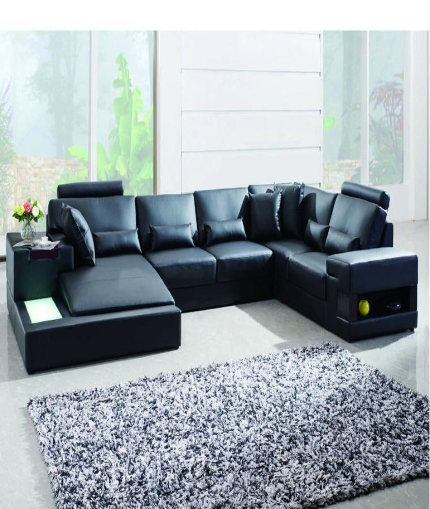Luxury 7 Seater Leather Corner Sofa Best – My Aashis