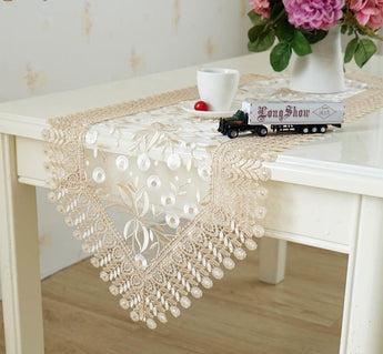 Modern Table Runner 40x180cm Polyester Transparent Organza