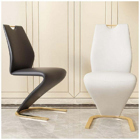 2 PCS Mainstays Z Shaped Leather Dinning Chair - My Aashis