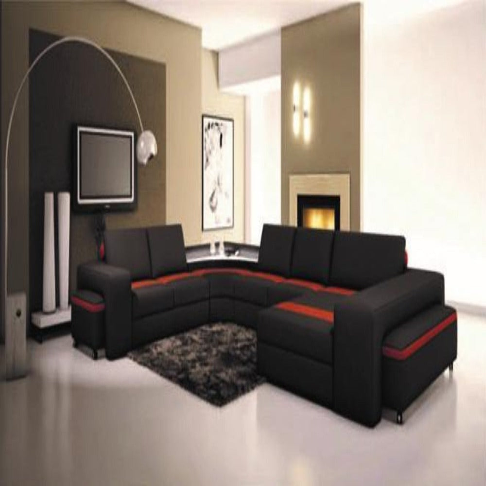 Luxury Treviso Genuine Leather Corner Sofa My Aashis