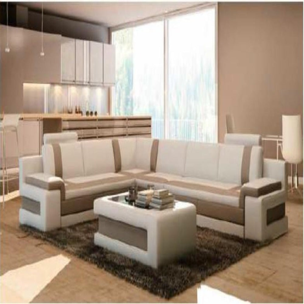 Luxury Two- Tone Modern Contemporary Sectional Sofa With Coffee ...