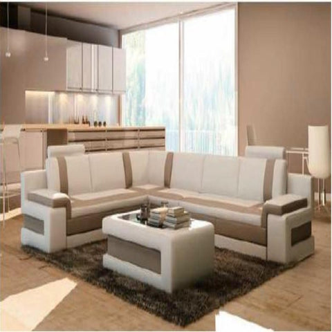 Luxury Two- Tone Modern Contemporary Sectional Sofa With Coffee table