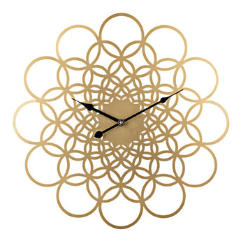 Latest Circle Pattern Iron Wall Clock For Decor - My Aashis