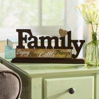 Geissler Family Tabletop Plaque Letter Block