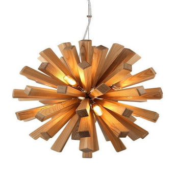 Modern Oak Wood Hanging Lamp Fixture