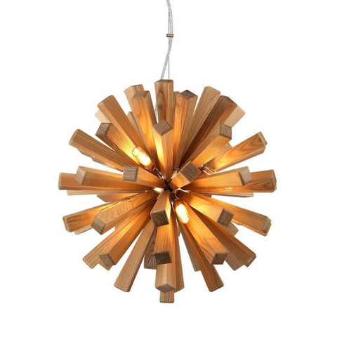 Modern Oak Wood Hanging Lamp Fixture - My Aashis