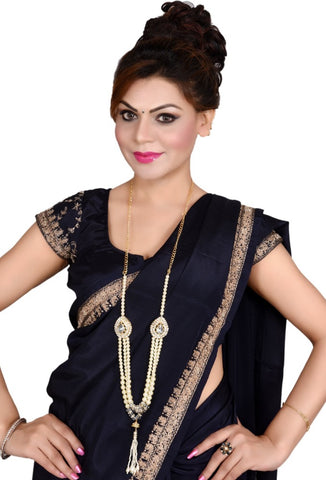2 in 1 Indian Bollywood Vintage Gold Plated Waist Belt Belly Chain Kamarbandh and necklace Bridal Dangle Tassel Body Jewelry - My Aashis