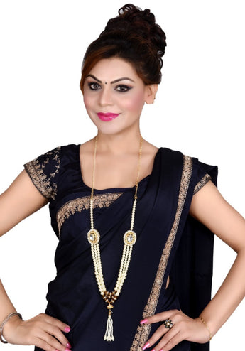 Bollywood Style Gold Plated Pearl Necklace - My Aashis