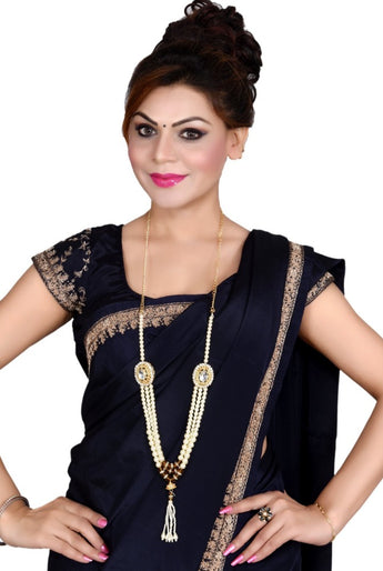 2 in 1 Indian Bollywood Vintage Gold Plated Waist Belt Belly Chain  and Necklace Kamarbandh Bridal Dangle Tassel Body Jewelry