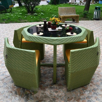 Luxurious Advanced Open Air Metal Edge Outdoor Furniture Set - My Aashis