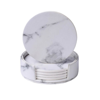 6 PCS Elegant Marble Set Of Cup Coasters - My Aashis