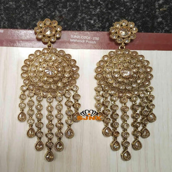 Dazzling Golden Shine Earrings For Girls and Women - My Aashis