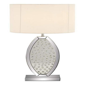 "Modern Crystal Mirror Table Lamp 30"" H-87289, 30"" Silver/Cream"