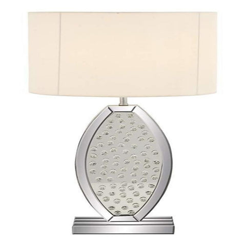 Modern Crystal Mirror Table Lamp on a Rectangular Mirror Base - My Aashis