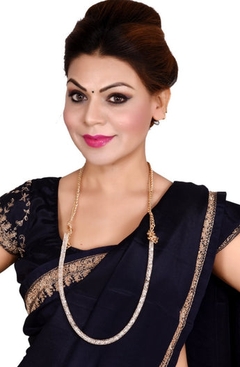 Contemporary Designed Gold Plated 3 In 1 Waistbelt+ Necklace + Hair Accessories - My Aashis