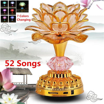 Beautiful Lotus Flower Lamps With LED Changing Light - My Aashis