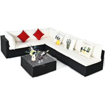 Stylish Sectional Patio Rattan Outdoor Sofa Set - My Aashis