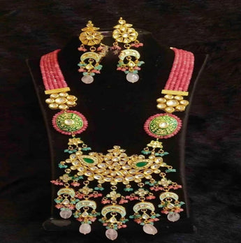 Temple Style Kundan Necklace Set - My Aashis