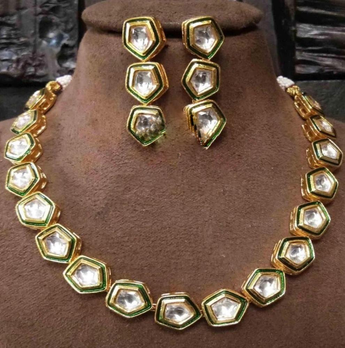Latest Designed Gold Plated Necklace Set - My Aashis