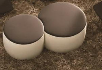 Modern White Round Coffee Table With Leather Top Tables For Living Room - My Aashis