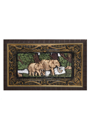 Elephant Printed 3D Frames Classic, Decorative Frames/Wall Hangings For Home - My Aashis