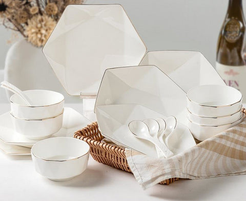 Kitchen Bowl Set  In Rich White Finish - My Aashis
