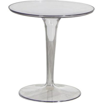 Creative Glass Looking Flower Pattern Side Table