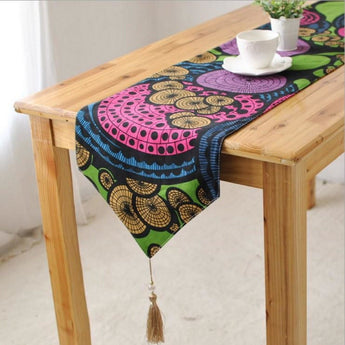 Cotton Bright Reversible Table Runner