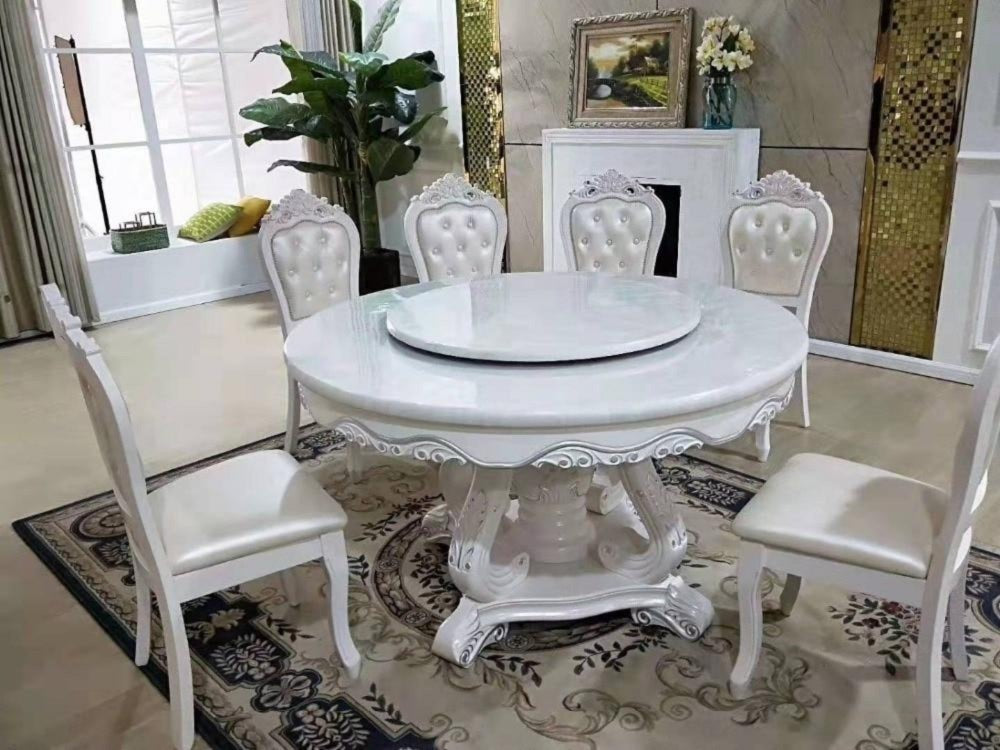 Rich Look Antique Round Dining Table Set My Aashis