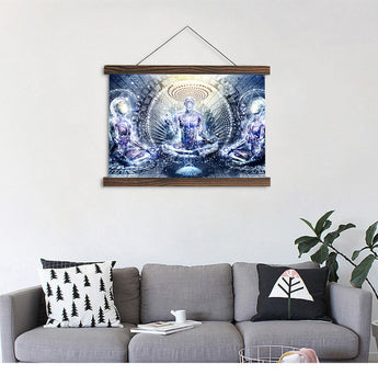 Meditation Modern  Scroll Canvas Painting