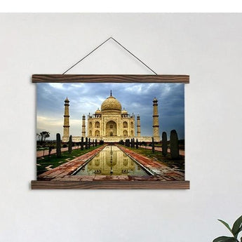 Taj Mahal Canvas Scroll Painting For Wall Decor