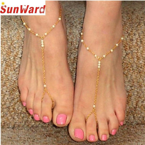 Golden Shine Unique Anklet Chain - My Aashis