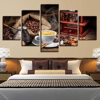 5 PCS Creative Spices Pattern Canvas Painting
