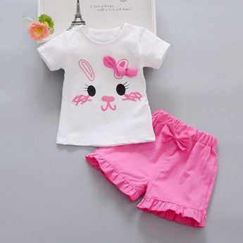 Trendy Collection of Colorful Rabbit Print Baby Girl Outfit - My Aashis