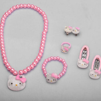 7PCS Newly Soft Light Jewelry Set For Kids - My Aashis