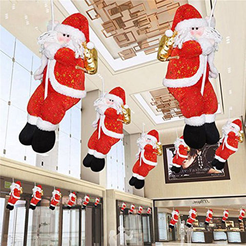Adorable Rope Climbing Santa Claus Christmas Decoration