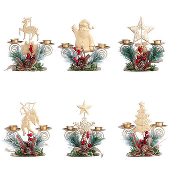 Decorative Candlestick Holders For Christmas Celebration - My Aashis