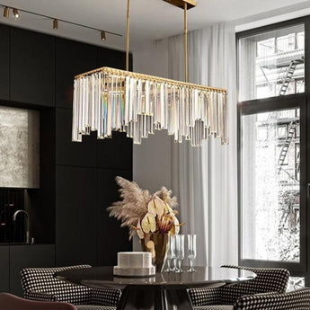Crystal Gold Pendant Chandelier Lighting - My Aashis