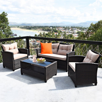 Modern Rattan Outdoor Furniture Set - My Aashis