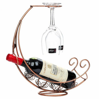 Barware Creative C Shaped Metal Wine Bottle Holder - My Aashis