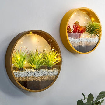 Creative LED Round Wall Shelves For Home Decor - My Aashis