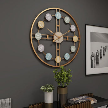 Rustic Silent Round Wall Clock For Decor - My Aashis
