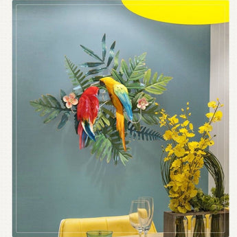 Bird Pattern Flower Wall Hanging For Entrance