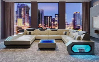 Luxury Led Sectional U-Shape Sofa