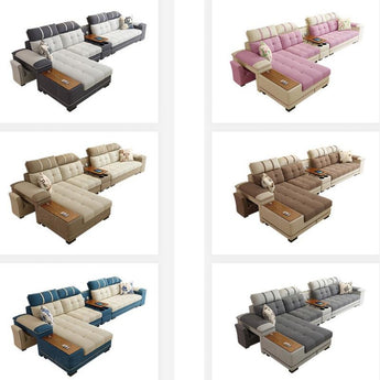 Modern Classic Fabric Sectional Sofa Set - My Aashis